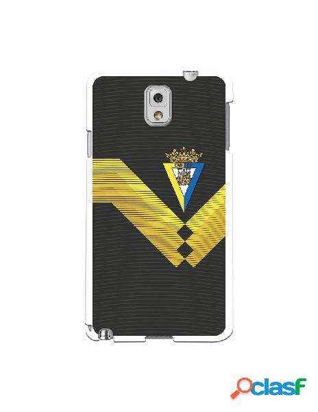 Carcasa para Samsung Galaxy Note 3 Cádiz CF Fondo Negro -
