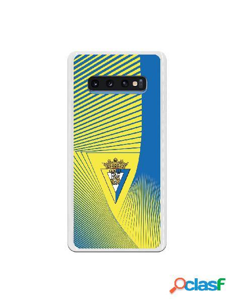 Carcasa para Samsung Galaxy S10 Plus Cádiz CF Motivo Lineal