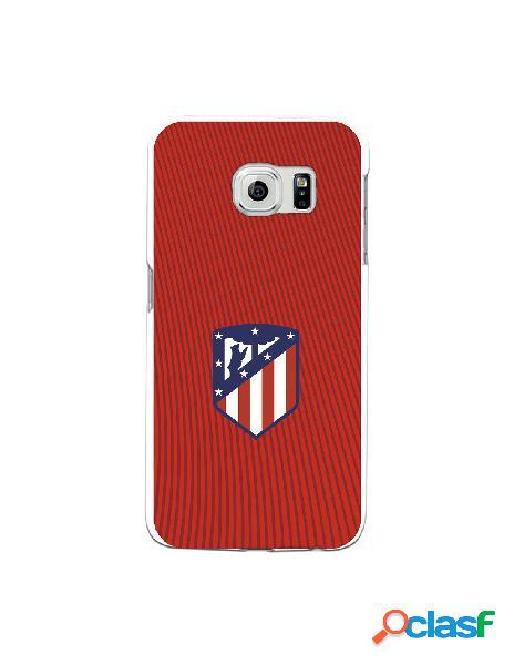 Carcasa para Samsung Galaxy S6 Edge Atlético de Madrid Rojo