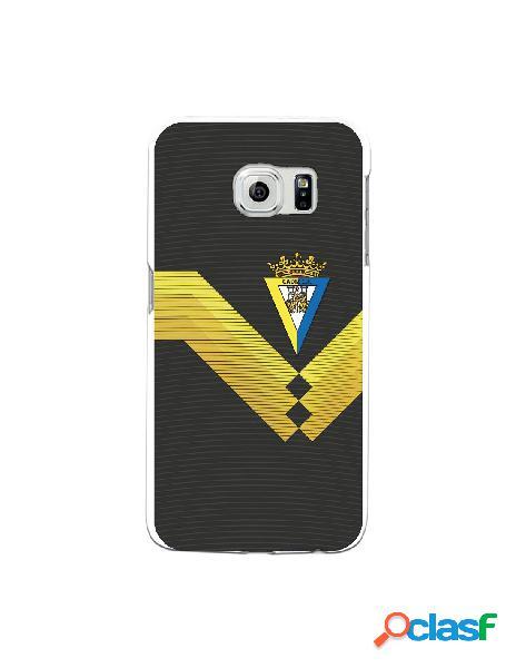 Carcasa para Samsung Galaxy S6 Edge Cádiz CF Fondo Negro -