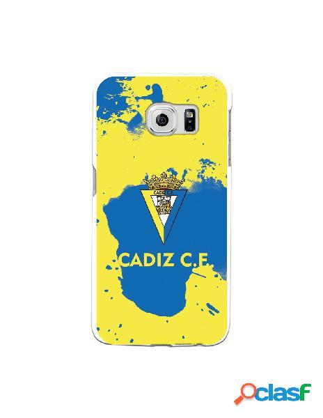 Carcasa para Samsung Galaxy S6 Edge Cádiz CF Manchas Azules