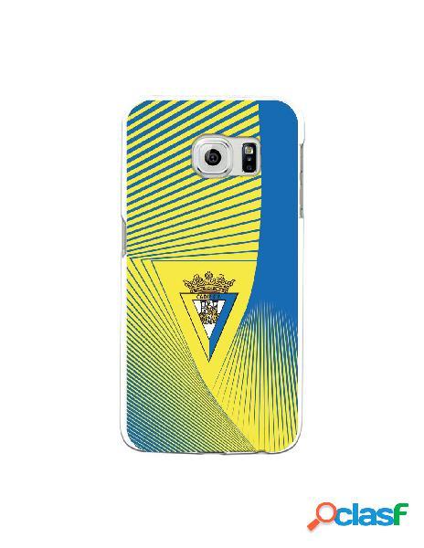 Carcasa para Samsung Galaxy S6 Edge Cádiz CF Motivo Lineal