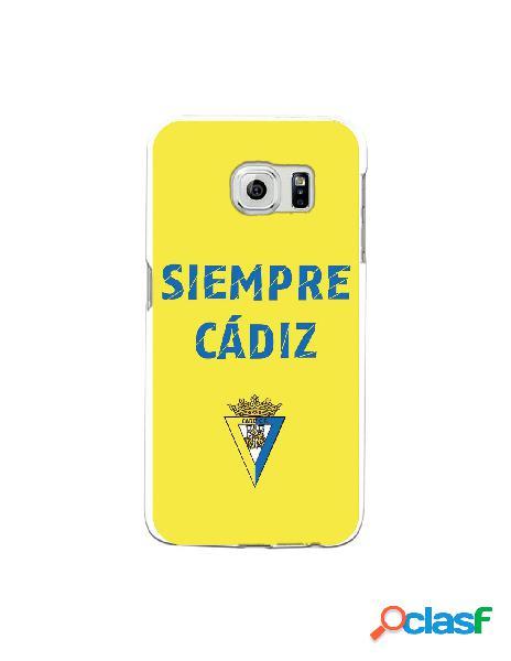 Carcasa para Samsung Galaxy S6 Edge Cádiz CF Siempre