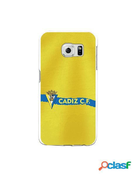 Carcasa para Samsung Galaxy S6 Edge Cádiz CF Textura sobre