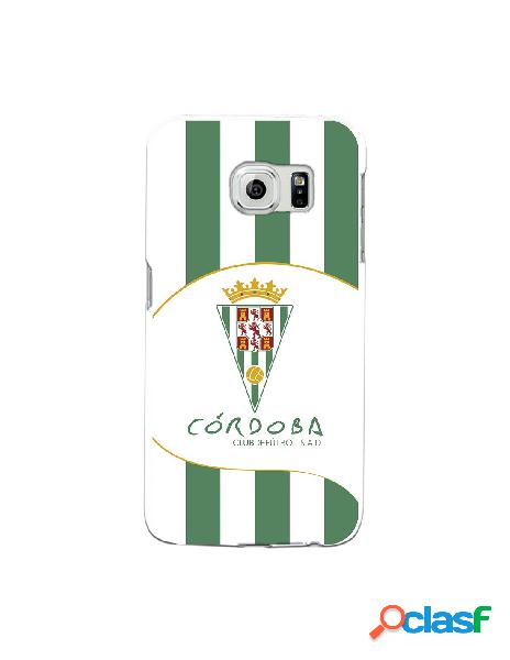 Carcasa para Samsung Galaxy S6 Edge Córdoba CF Franjas
