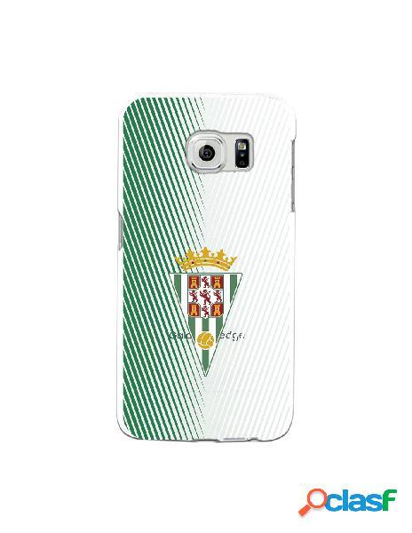 Carcasa para Samsung Galaxy S6 Edge Córdoba CF Trazos Verde