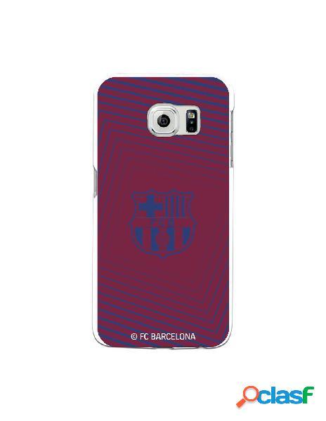 Carcasa para Samsung Galaxy S6 Edge FC Barcelona Escudo Azul
