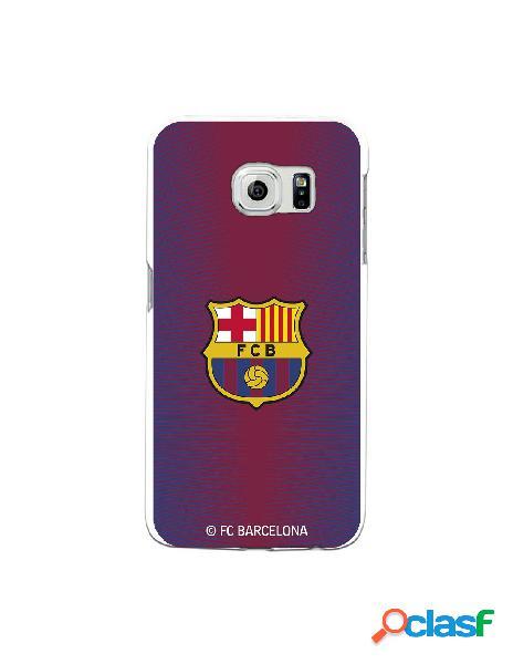 Carcasa para Samsung Galaxy S6 Edge FC Barcelona Fondo Rojo