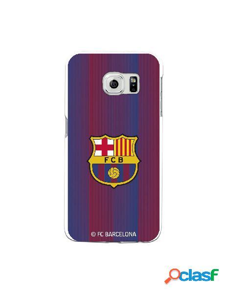 Carcasa para Samsung Galaxy S6 Edge FC Barcelona Retro