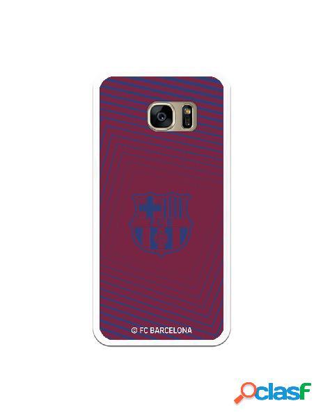 Carcasa para Samsung Galaxy S7 Edge FC Barcelona Escudo Azul