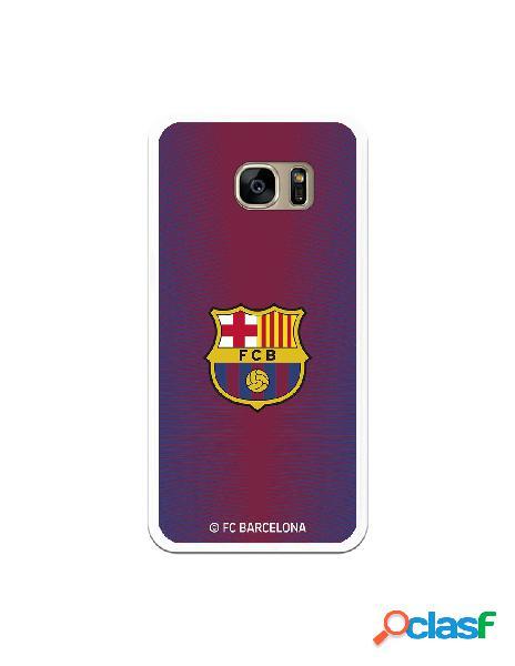 Carcasa para Samsung Galaxy S7 Edge FC Barcelona Fondo Rojo
