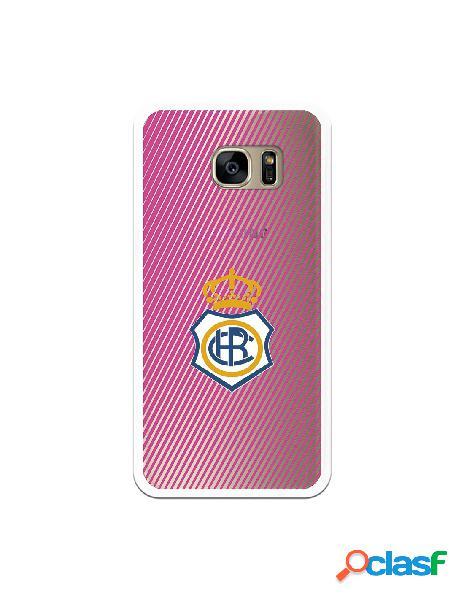 Carcasa para Samsung Galaxy S7 Edge Recre Rosa Transparente