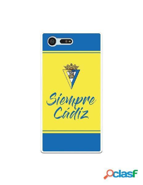 Carcasa para Sony Xperia X Compact Cádiz CF Fondo Azul y