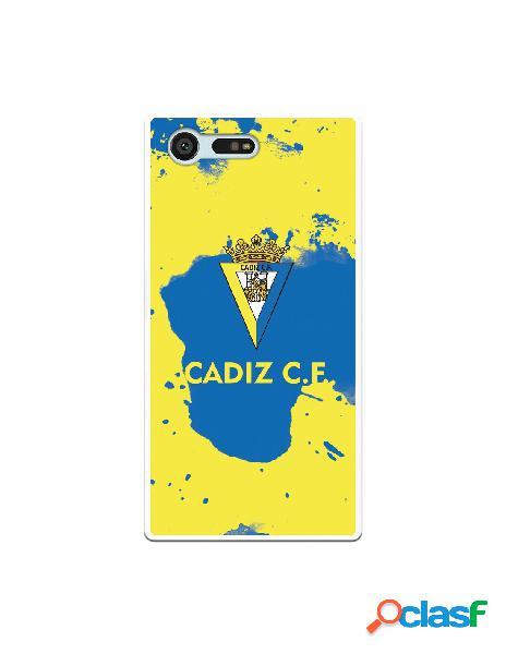 Carcasa para Sony Xperia X Compact Cádiz CF Manchas Azules