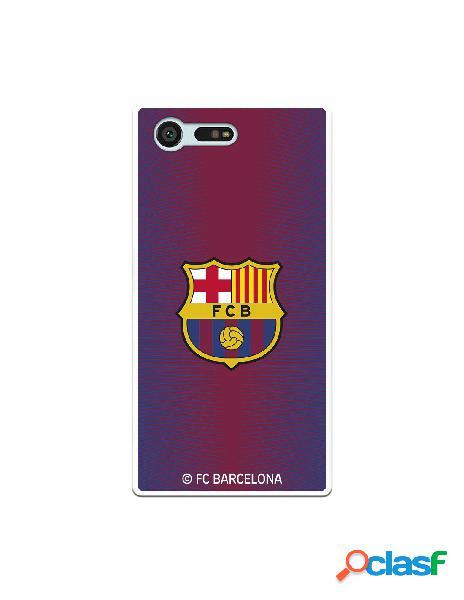 Carcasa para Sony Xperia X Compact FC Barcelona Fondo Rojo
