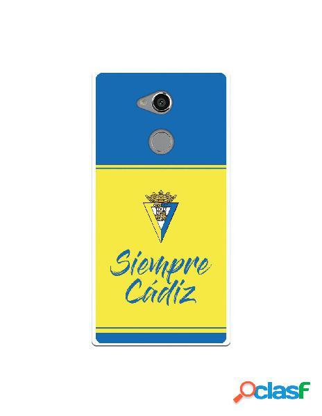 Carcasa para Sony Xperia XA2 Ultra Cádiz CF Fondo Azul y