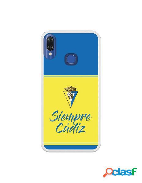 Carcasa para VSmart Joy 1 Plus Cádiz CF Fondo Azul y