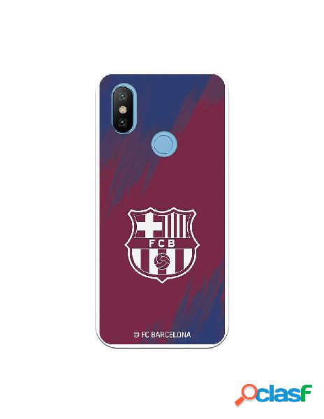 Carcasa para Xiaomi MI A2 FC Barcelona Escudo Blanco Fondo