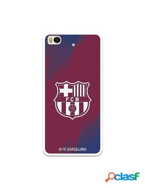 Carcasa para Xiaomi Mi 5S FC Barcelona Escudo Blanco Fondo