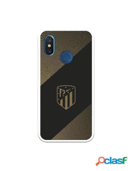 Carcasa para Xiaomi Mi 8 Atlético de Madrid Fondo Negro -