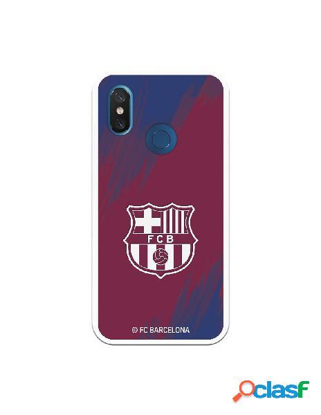 Carcasa para Xiaomi Mi 8 FC Barcelona Escudo Blanco Fondo