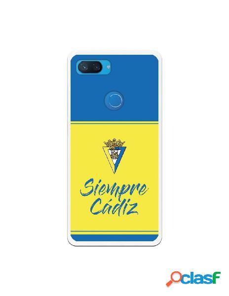 Carcasa para Xiaomi Mi 8 Lite Cádiz CF Fondo Azul y