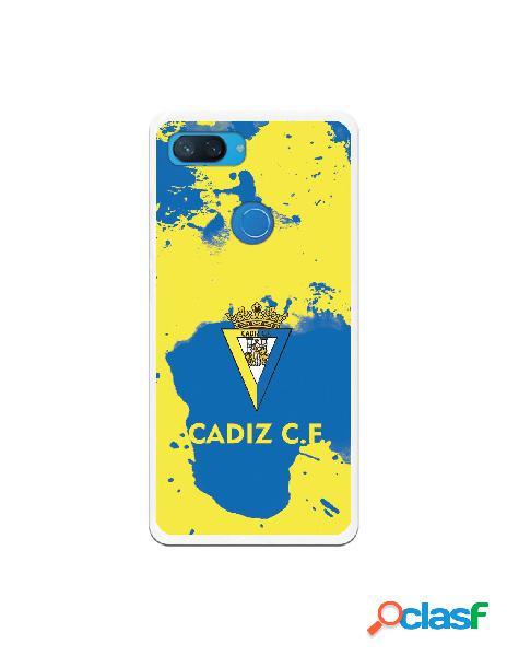 Carcasa para Xiaomi Mi 8 Lite Cádiz CF Manchas Azules -
