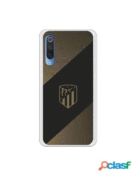 Carcasa para Xiaomi Mi 9 Atlético de Madrid Fondo Negro -