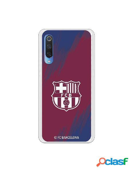Carcasa para Xiaomi Mi 9 FC Barcelona Escudo Blanco Fondo