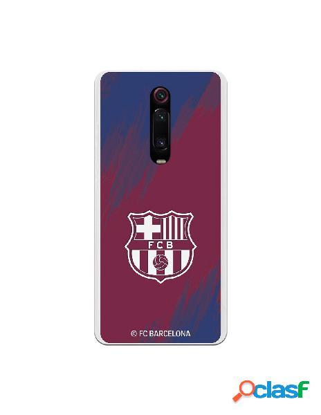 Carcasa para Xiaomi Mi 9T FC Barcelona Escudo Blanco Fondo
