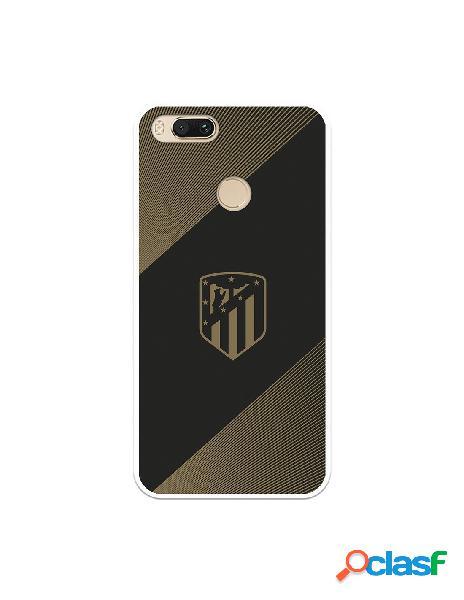 Carcasa para Xiaomi Mi A1 Atlético de Madrid Fondo Negro -