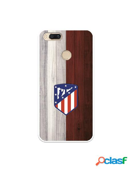 Carcasa para Xiaomi Mi A1 Atlético de Madrid Madera -