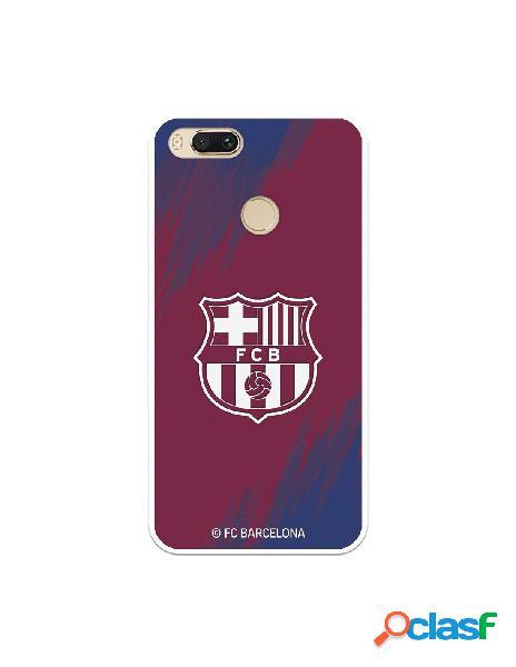 Carcasa para Xiaomi Mi A1 FC Barcelona Escudo Blanco Fondo