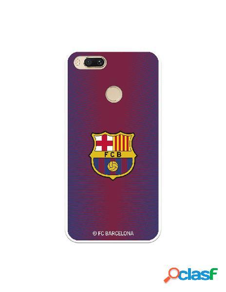 Carcasa para Xiaomi Mi A1 FC Barcelona Fondo Rojo Escudo