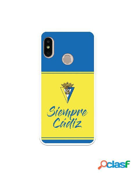 Carcasa para Xiaomi Mi A2 Lite Cádiz CF Fondo Azul y