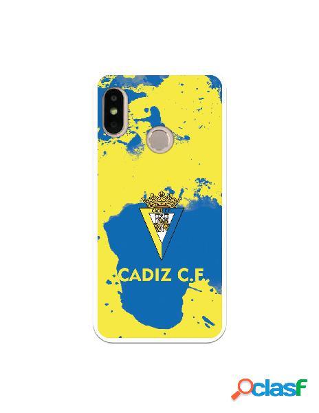 Carcasa para Xiaomi Mi A2 Lite Cádiz CF Manchas Azules -