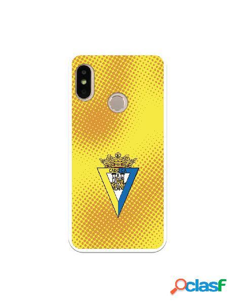 Carcasa para Xiaomi Mi A2 Lite Cádiz CF Semitono Puntos -