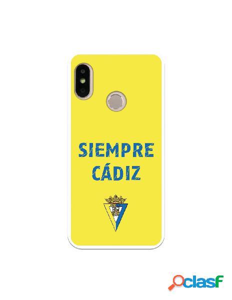 Carcasa para Xiaomi Mi A2 Lite Cádiz CF Siempre Amarillo -