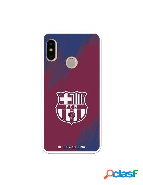 Carcasa para Xiaomi Mi A2 Lite FC Barcelona Escudo Blanco