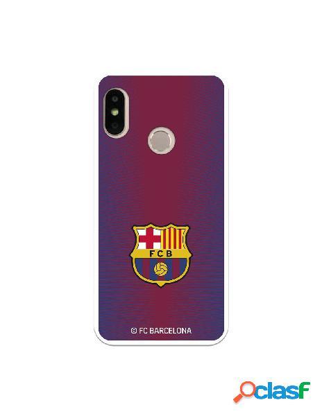 Carcasa para Xiaomi Mi A2 Lite FC Barcelona Fondo Rojo