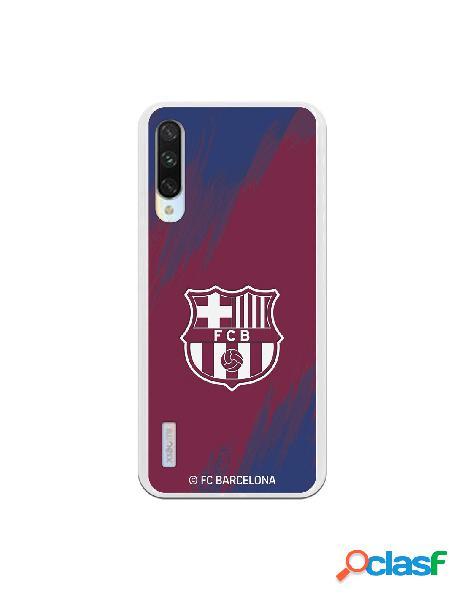 Carcasa para Xiaomi Mi A3 FC Barcelona Escudo Blanco Fondo