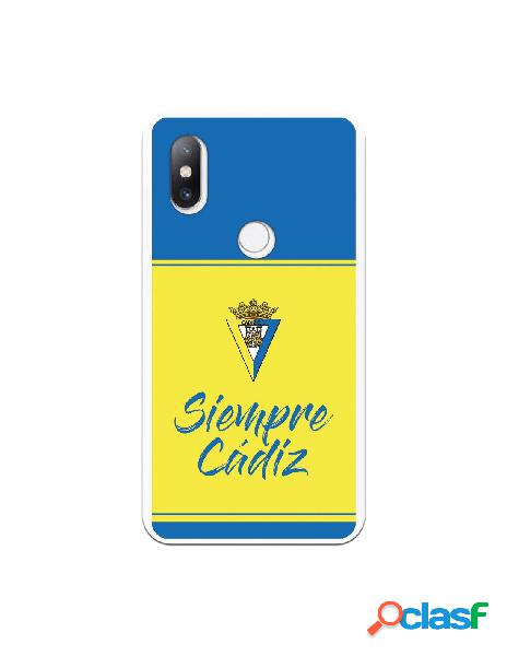 Carcasa para Xiaomi Mi Mix 2S Cádiz CF Fondo Azul y