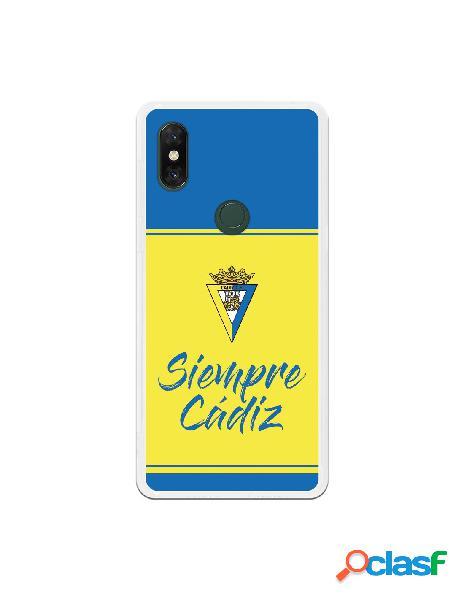 Carcasa para Xiaomi Mi Mix 3 Cádiz CF Fondo Azul y Amarillo