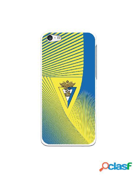 Carcasa para iPhone 5C Cádiz CF Motivo Lineal - Licencia