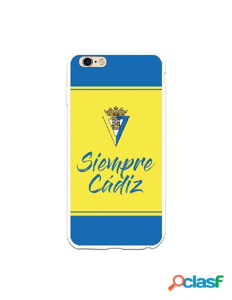 Carcasa para iPhone 6 Plus Cádiz CF Fondo Azul y Amarillo -