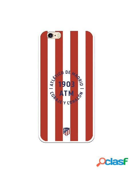 Carcasa para iPhone 6S Atlético de Madrid Coraje y Corazon
