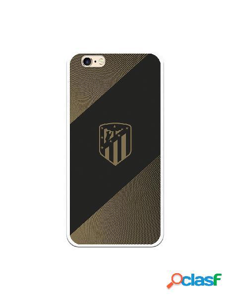 Carcasa para iPhone 6S Atlético de Madrid Fondo Negro -