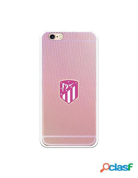 Carcasa para iPhone 6S Atlético de Madrid Lineas Rosas