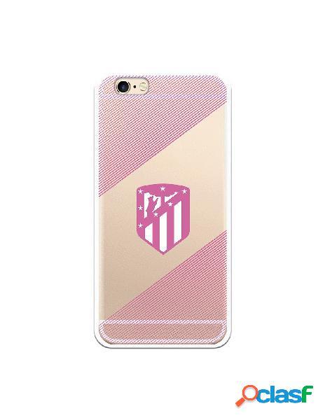 Carcasa para iPhone 6S Atlético de Madrid Rosa Transparente