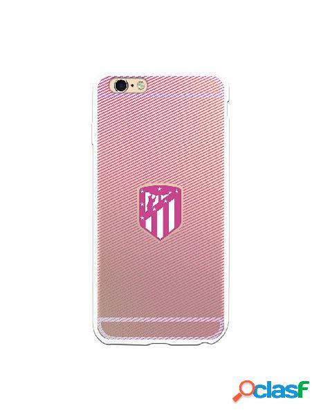 Carcasa para iPhone 6S Plus Atlético de Madrid Lineas Rosas